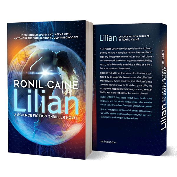 Lilian book cover – scifi action novel by Ronil Caine